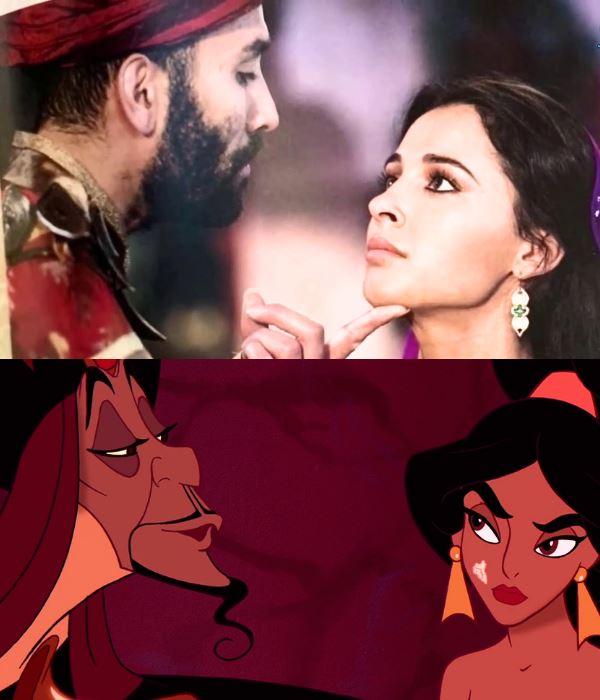 Jafar sorcerer with jasmine aladdin