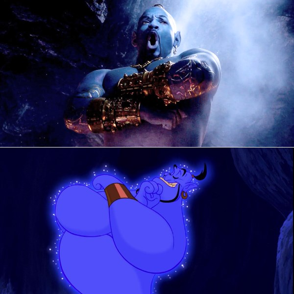 aladdin genie entry original animation vs live action