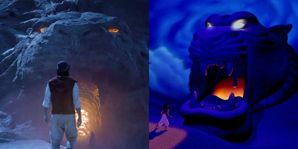 cave of wonders aladdin 1992 vs 2019