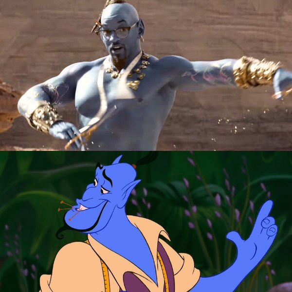 genie tailor aladdin 1992 vs 2019 film