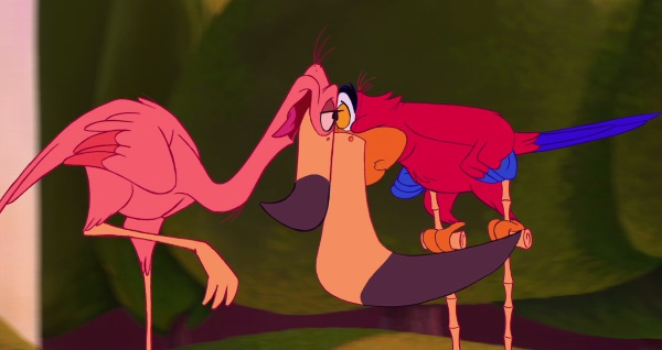 iago flamingo love aladdin