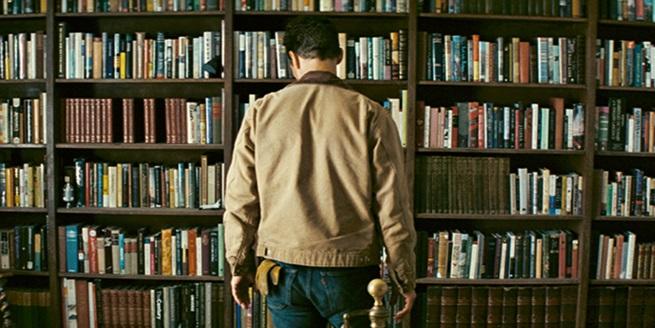 interstellar bookshelf