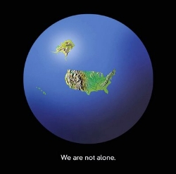 Earth map USA only