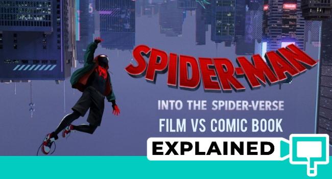 spider man into the spider verse comic book comparison