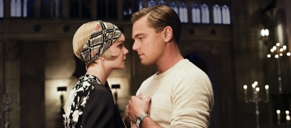 CAREY MULLIGAN as Daisy Buchanan and LEONARDO DICAPRIO as Jay Gatsby